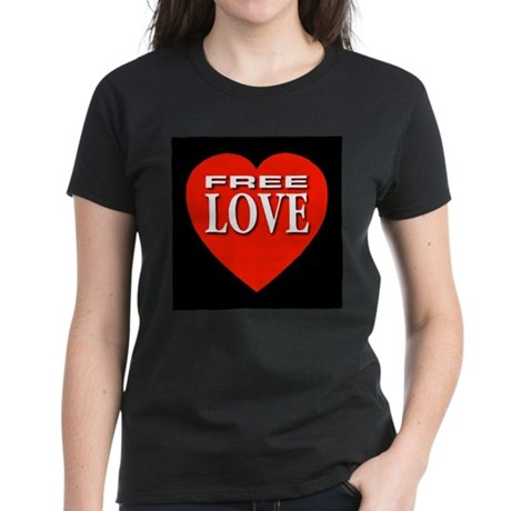 Free Love Women's Dark T-Shirt