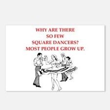 square dancing Postcards (Package of 8)
