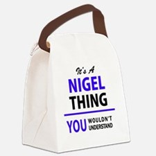 Cute Nigel Canvas Lunch Bag