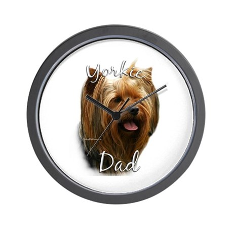 Yorkie Dad2 Wall Clock