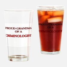 Proud Grandma of a Criminologist Drinking Glass