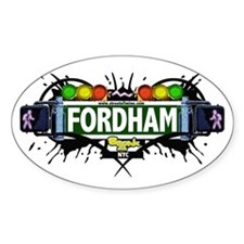 Fordham (White) Oval Decal