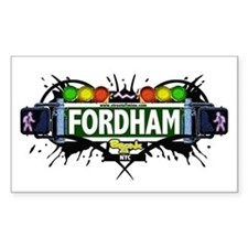 Fordham (White) Rectangle Decal