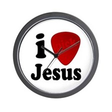 I Pick Jesus Guitar Pick Wall Clock