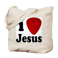 I Pick Jesus Guitar Pick Tote Bag