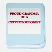Proud Grandma of a Cryptozoologist baby blanket