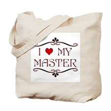 'I Love My Master' Tote Bag
