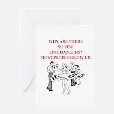 line dancer Greeting Cards