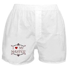 'I Love My Master' Boxer Shorts