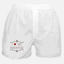 'I Love My Master' Boxer Shorts