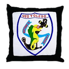 USS Toledo (CA 133) Throw Pillow