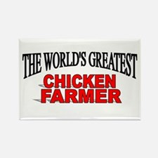 """The World's Greatest Chicken Farmer"" Rectangle Ma"