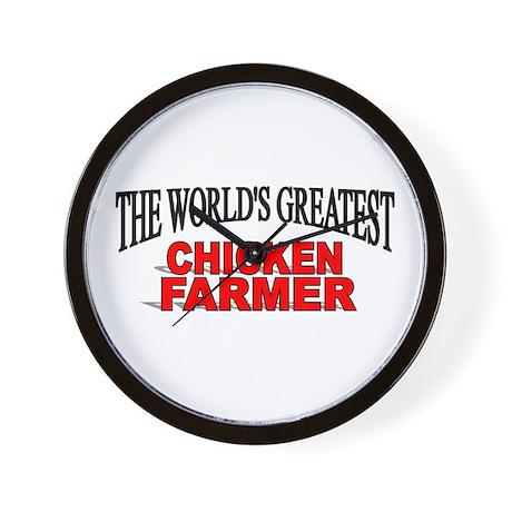 """The World's Greatest Chicken Farmer"" Wall Clock"