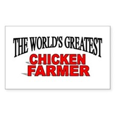 """The World's Greatest Chicken Farmer"" Decal"