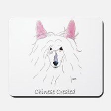 Chinese Crested Puff (no back Mousepad