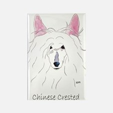 Chinese Crested Puff (no back Rectangle Magnet (10