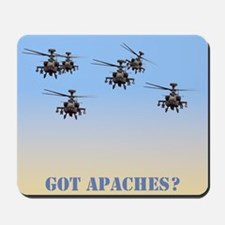 GOT APACHES? APACHE HELICOPTER MOUSEPADMousepad
