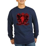 Ram's head Long Sleeve Dark T-Shirt