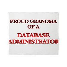 Proud Grandma of a Database Administ Throw Blanket