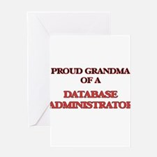Proud Grandma of a Database Adminis Greeting Cards
