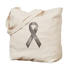 Gray Ribbon Tote Bag