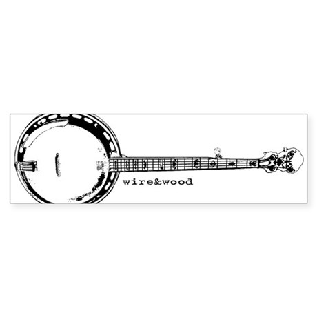 wire&wood Banjo Bumper Sticker