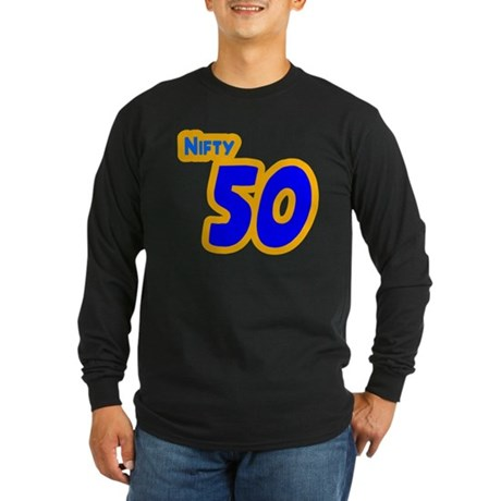 Nifty 50 Fifty Shirt Long Sleeve Dark T-Shirt