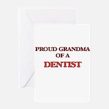 Proud Grandma of a Dentist Greeting Cards