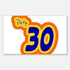 Dirty Thirty Shirt Decal