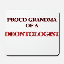 Proud Grandma of a Deontologist Mousepad