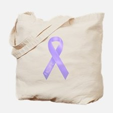 Lavender Ribbon Tote Bag