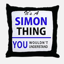 Cute Simon Throw Pillow