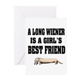 Weiner dog Greeting Cards