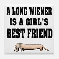 Wiener Friend Dachshund Tile Coaster