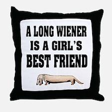 Wiener Friend Dachshund Throw Pillow