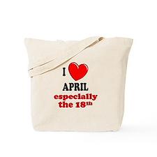 April 18th Tote Bag