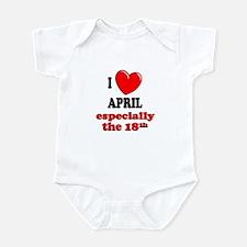 April 18th Infant Bodysuit