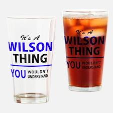 Unique Wilson Drinking Glass