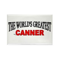 """The World's Greatest Canner"" Rectangle Magnet"