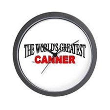 """""""The World's Greatest Canner"""" Wall Clock"""