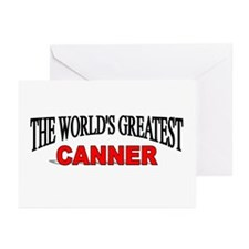 """""""The World's Greatest Canner"""" Greeting Cards (Pk o"""