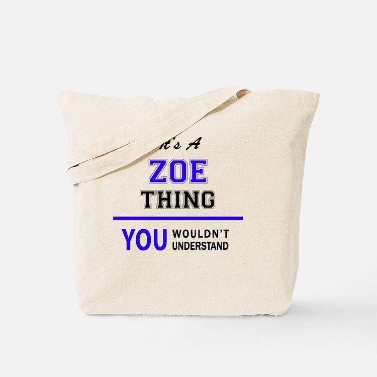 Cute Zoe Tote Bag