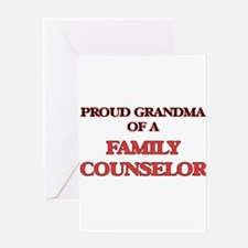 Proud Grandma of a Family Counselor Greeting Cards