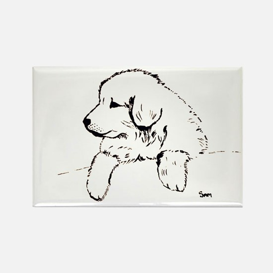 Great Pyrenees puppy Rectangle Magnet