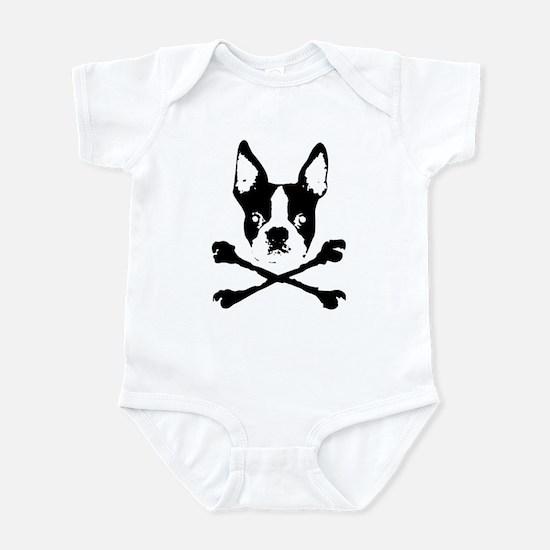 Boston Terrier Crossbones Infant Bodysuit