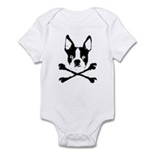Boston Terrier Crossbones Onesie