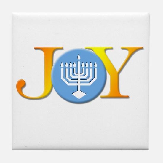Joy Menorah Tile Coaster