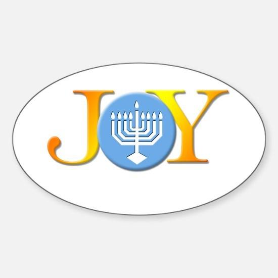 Joy Menorah Oval Decal