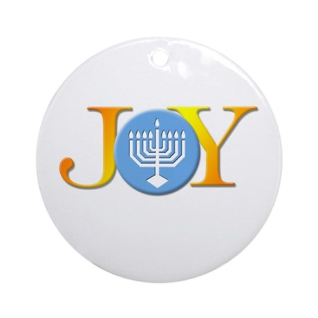 Joy Menorah Ornament (Round)