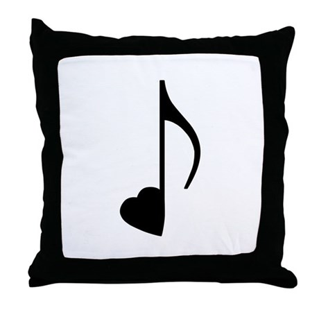 Eighth Love Notes Throw Pillow
